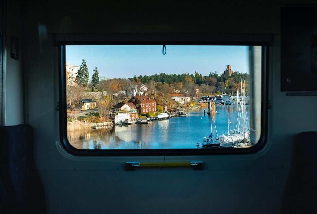 sweden train window