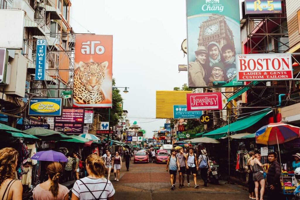thailand backpacking street