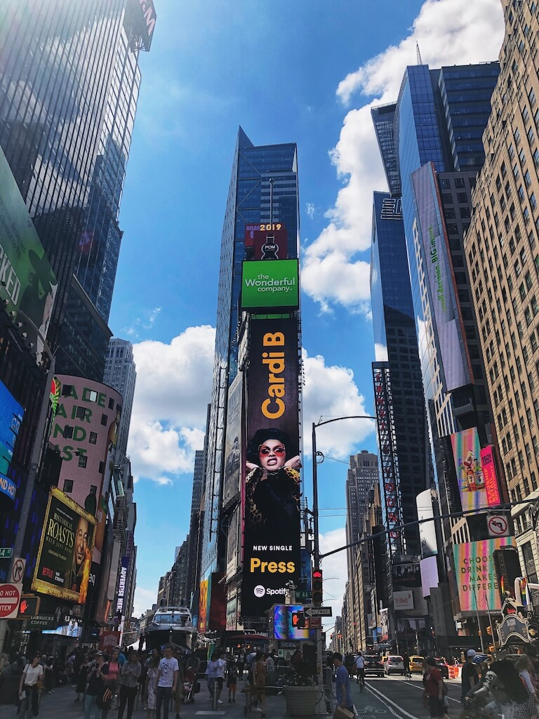New York is famous for Times Square