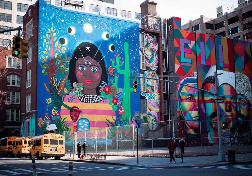 tribeca colorful mural