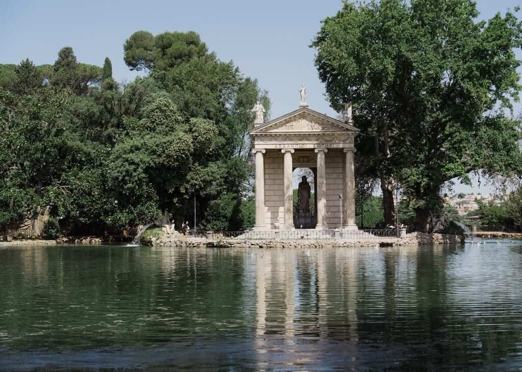 Temple of Asclepius in Villa Borghese