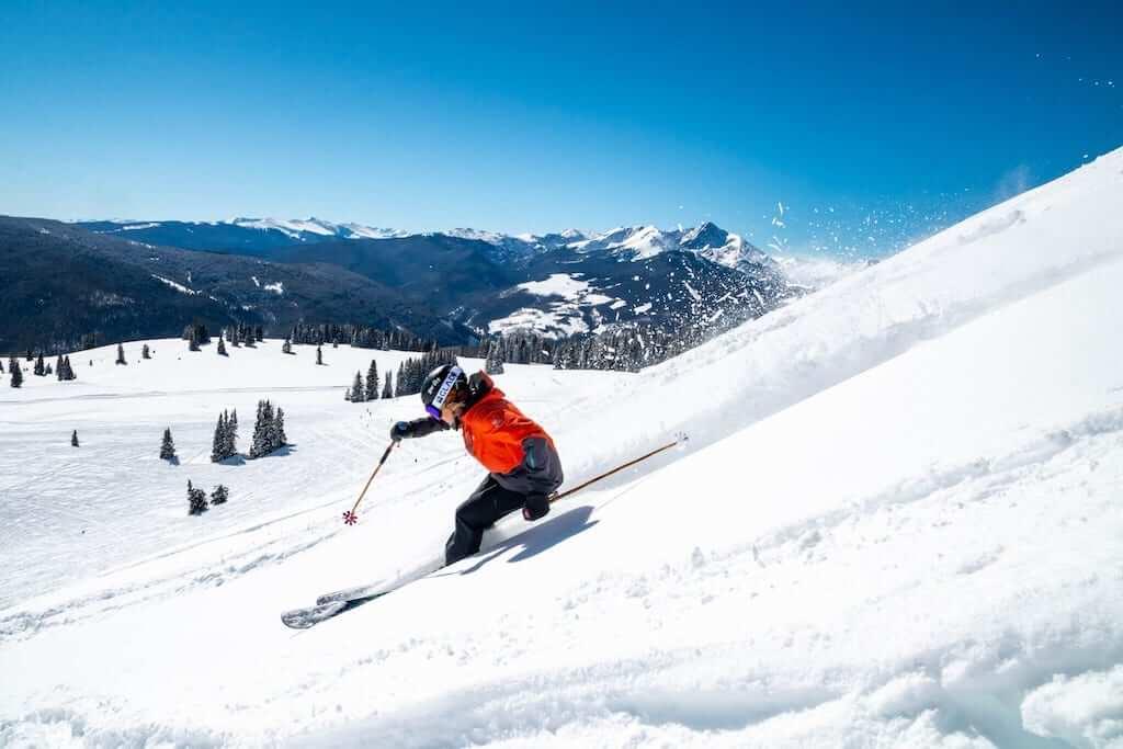 woman ski slope