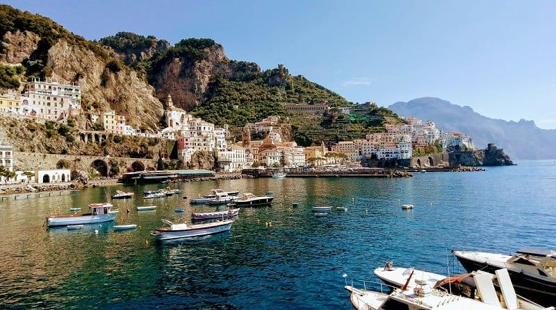 the famous amalfi coast