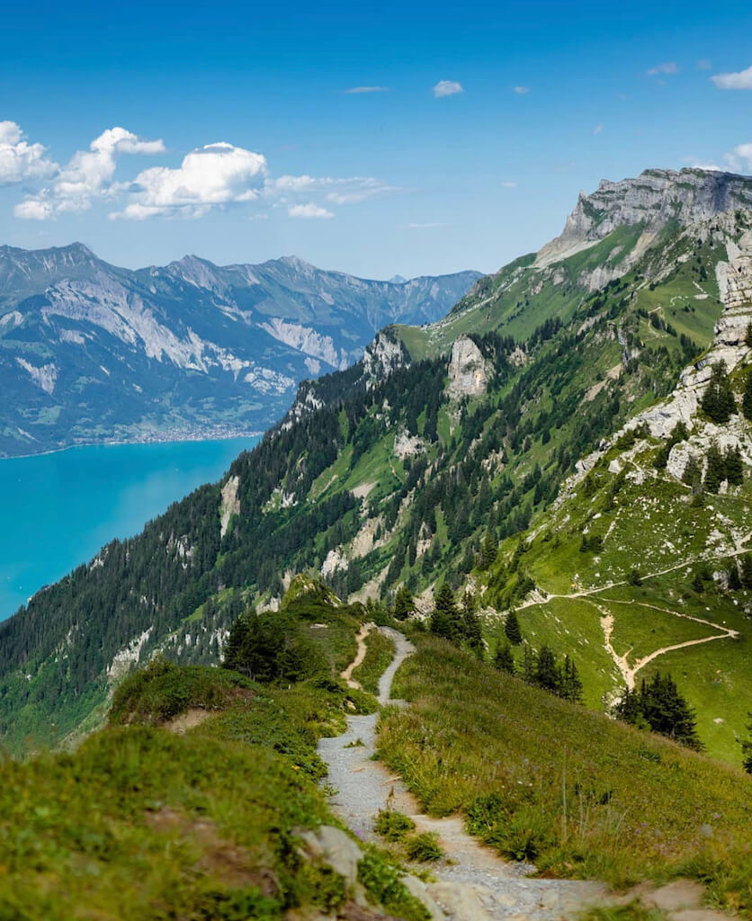 Incredible views from a hiking trail in Switzerland