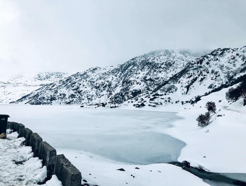 snowy Nathula Pass