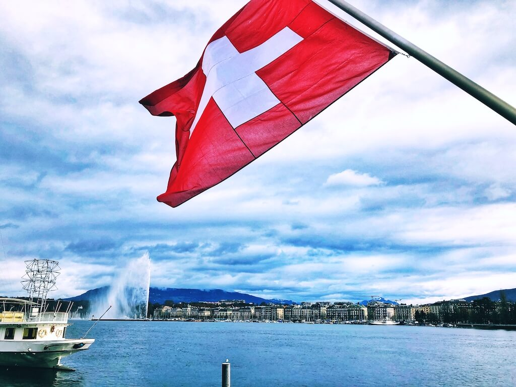 the white cross, or the flag of switzerland