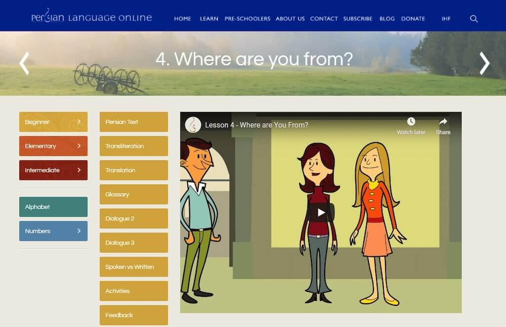 Learn Persian on Persian Language Online
