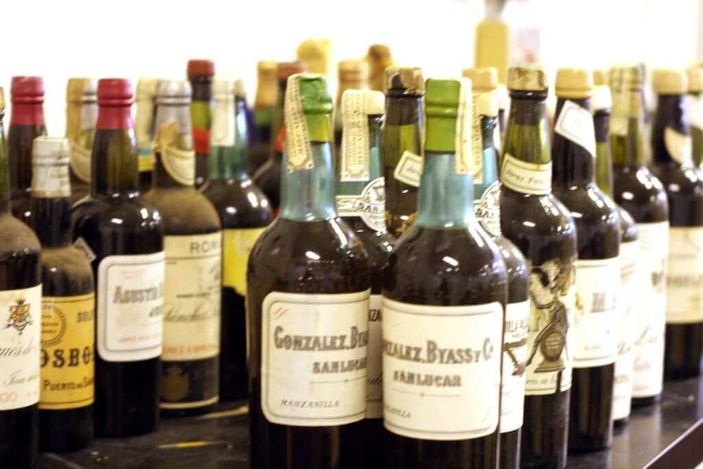 bottles of sherry