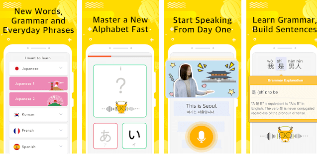 Learn Russian alphabet, grammar and speaking exercise, sentence building with Lingo Deer