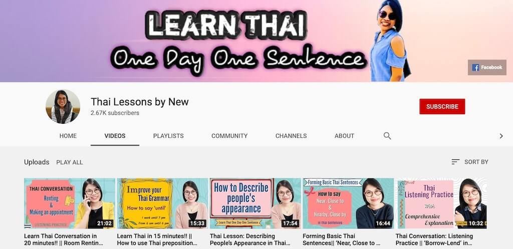 thai lessons by new