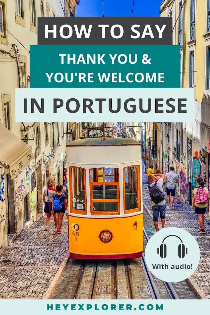 how to say you're welcome in portuguese