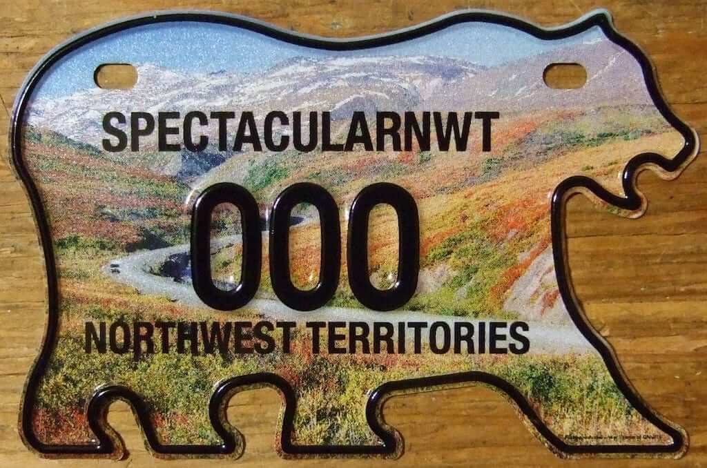 canada license plate bear