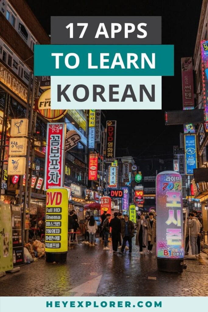 apps to learn korean