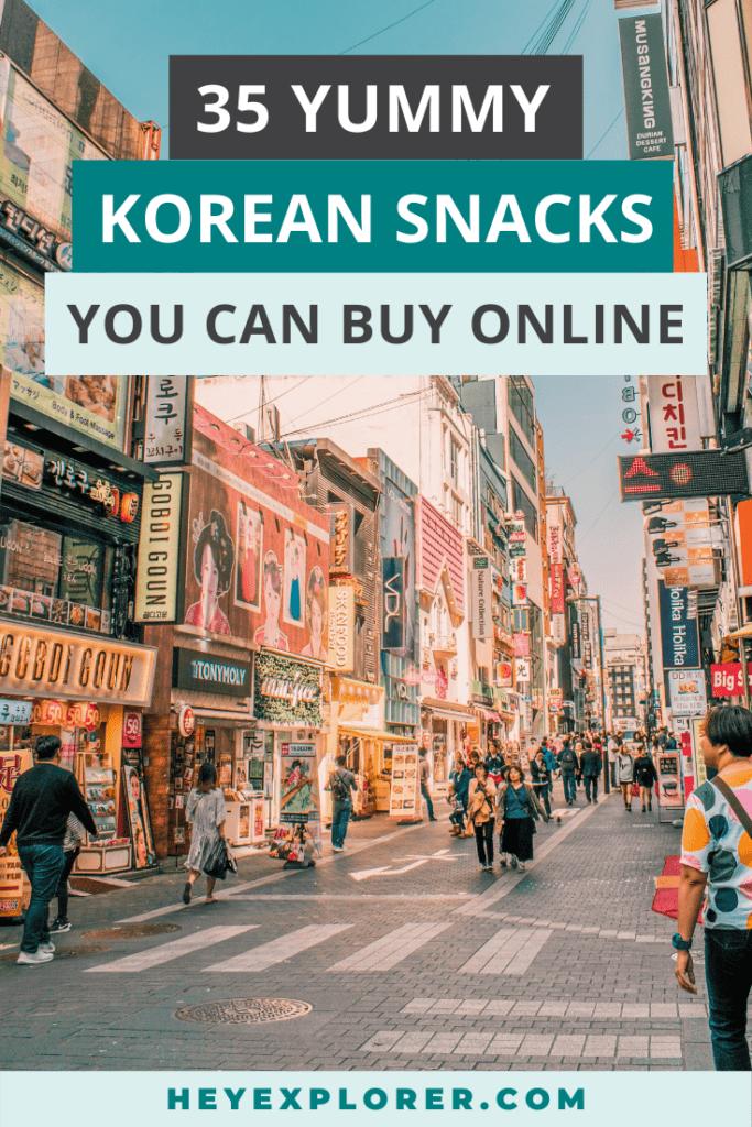 snacks from korea