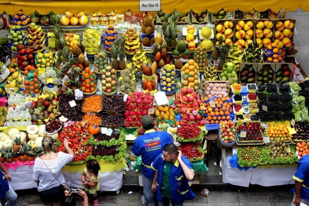Fruits in the market in Brazil