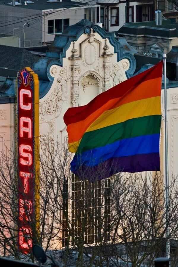 castro and rainbow flag