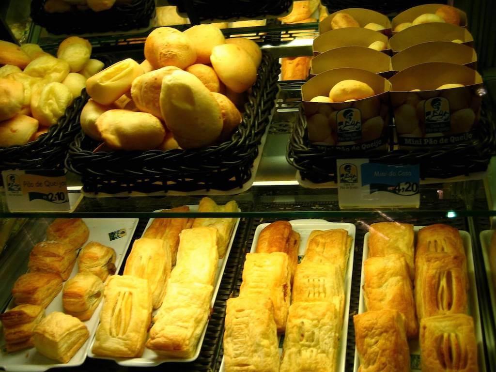 Brazilian snack foods on display