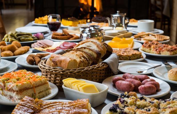 A big colonial breakfast in Brazil