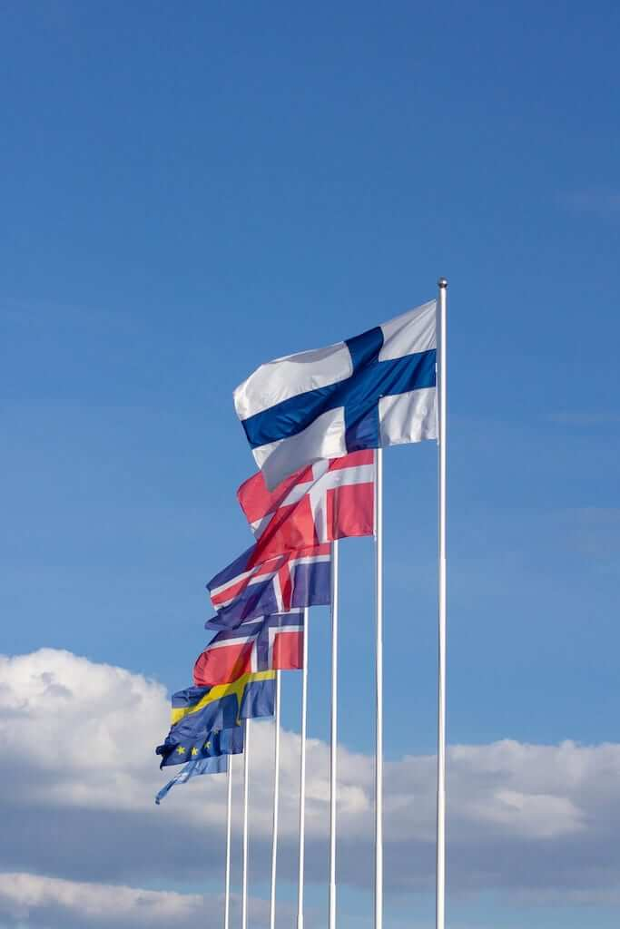 Flags of the Nordic countries