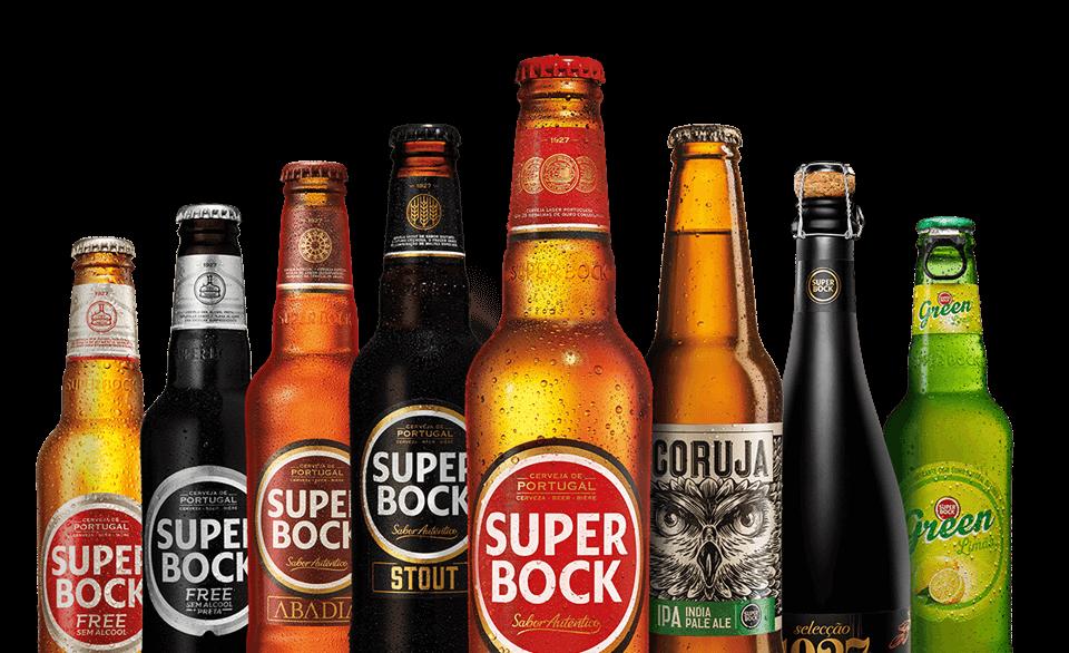 Super bock Portuguese beer