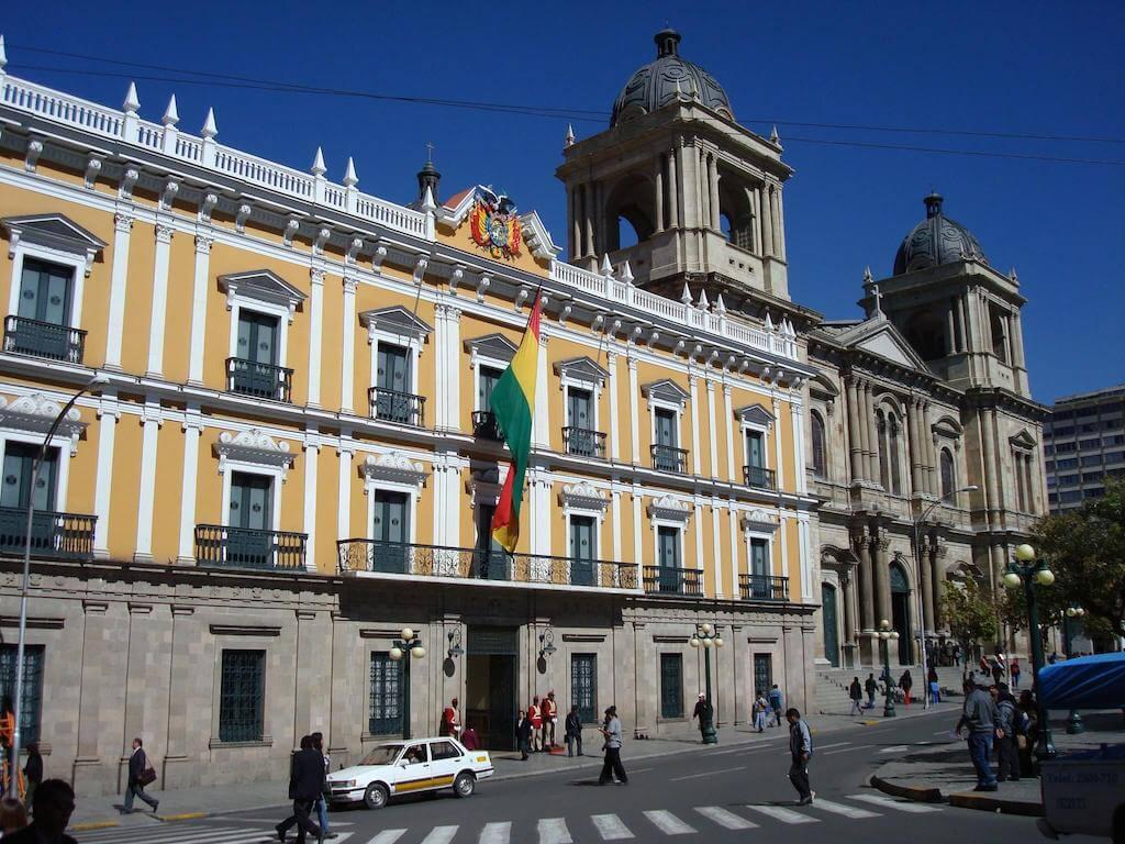 Palacio Quemado in downtown La Paz