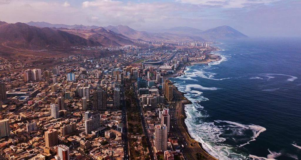 View of Chilean city of Antofagasta