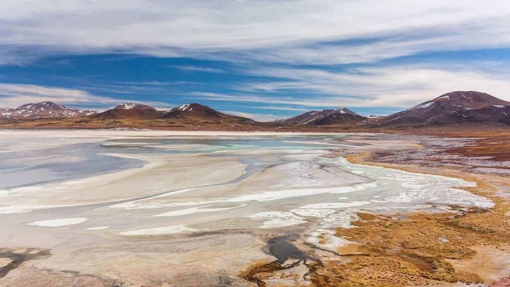 beautiful landscape of the atacama desert