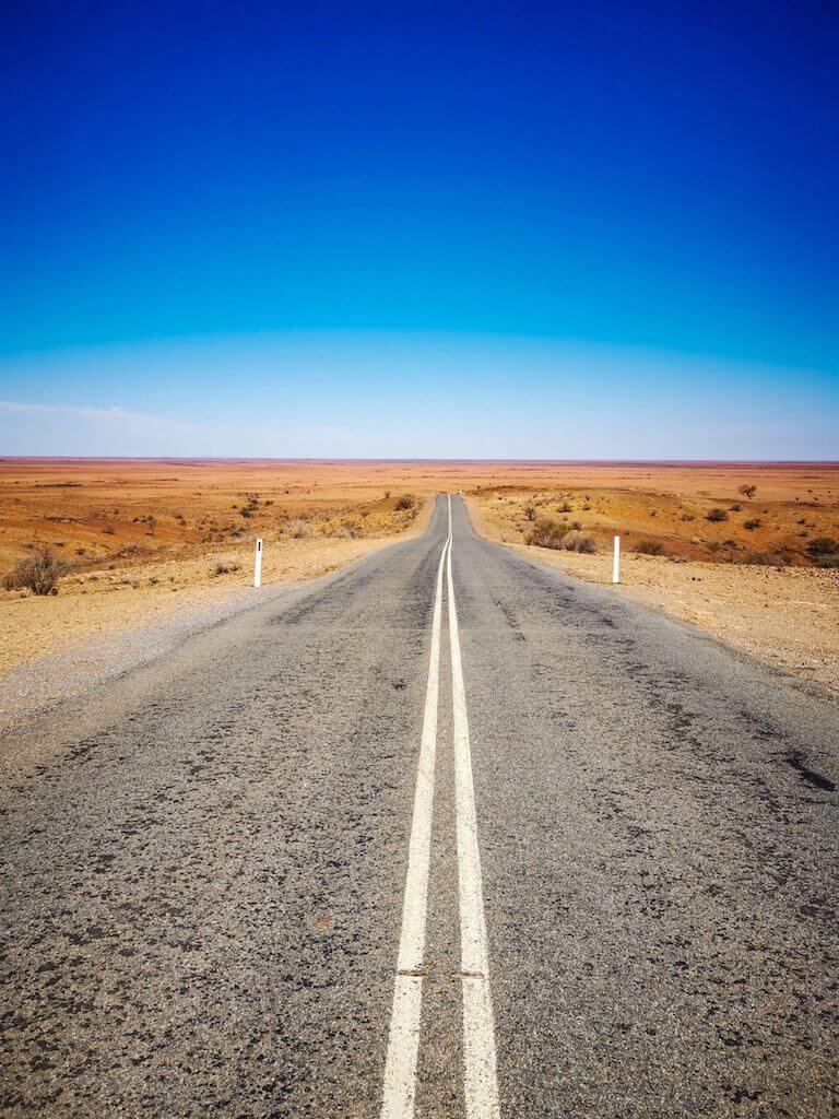 empty road in australian outback