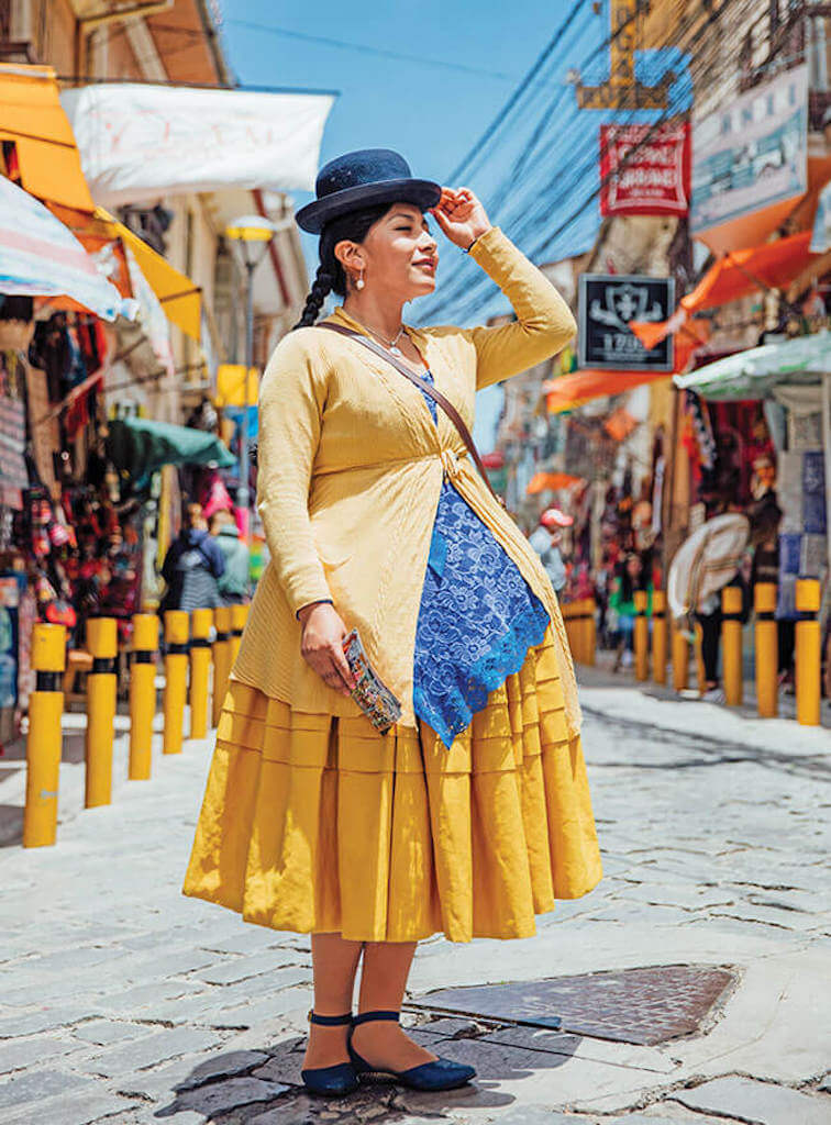 A bolivian cholita