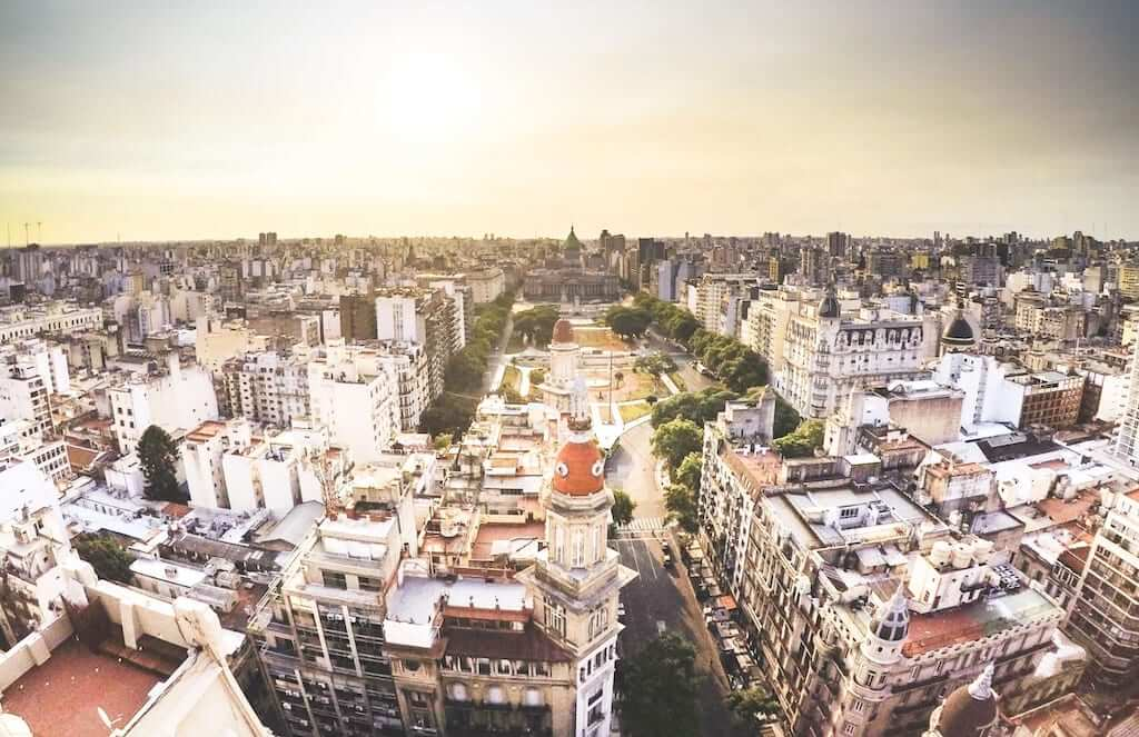 view of buenos aires from high above
