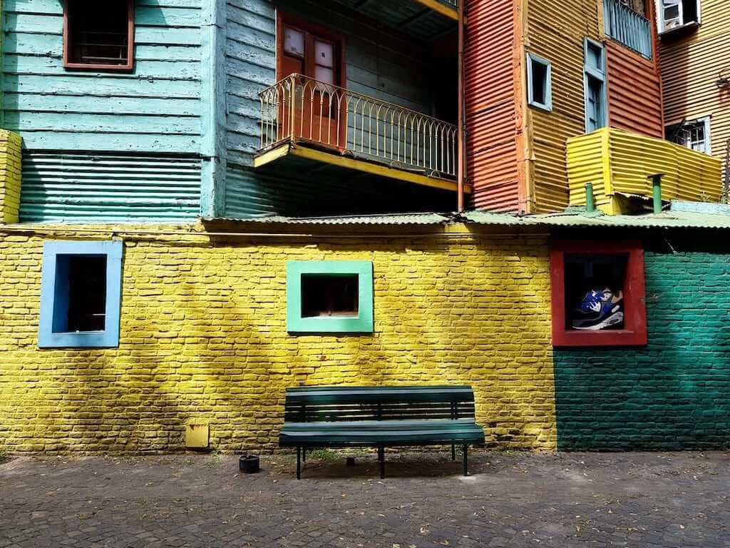 Colorful buildings in Caminito
