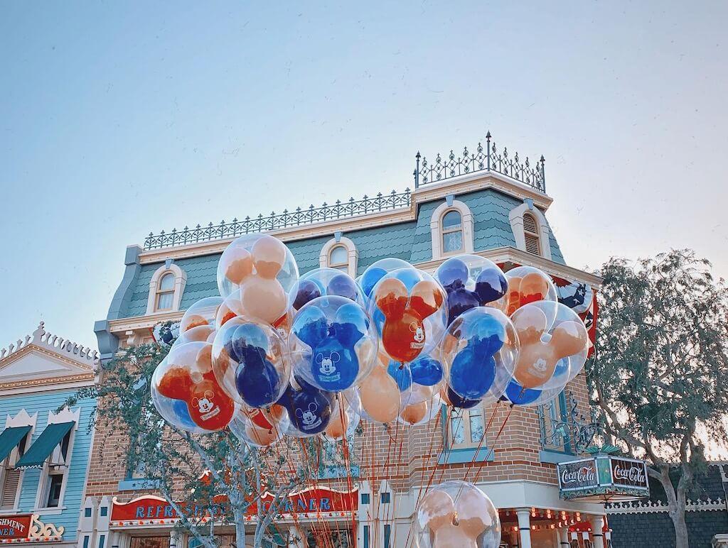 balloons in disneyland los angeles