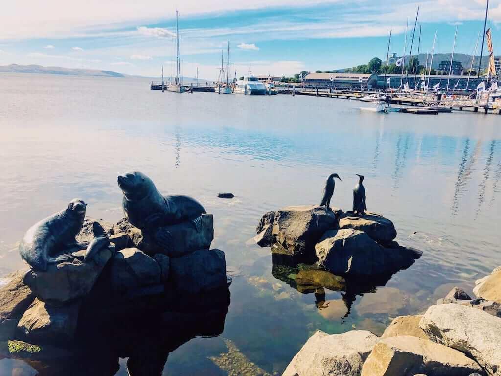 waterfront of hobart in australia