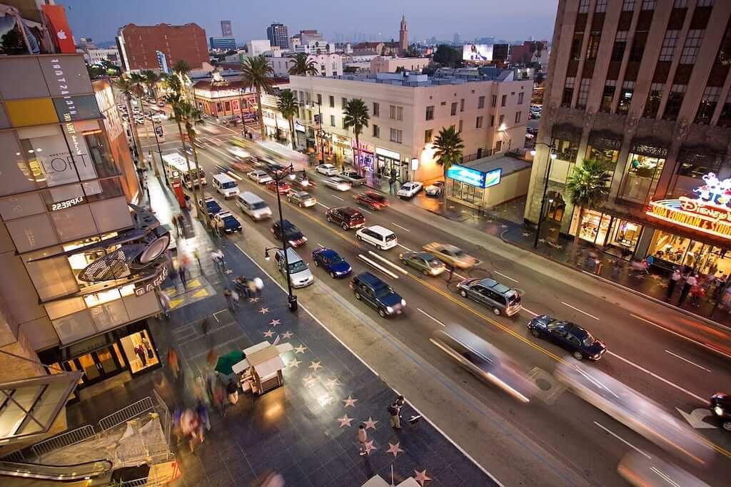 Traffic at Hollywood Boulevard