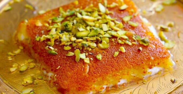 Kunefeh on a plate