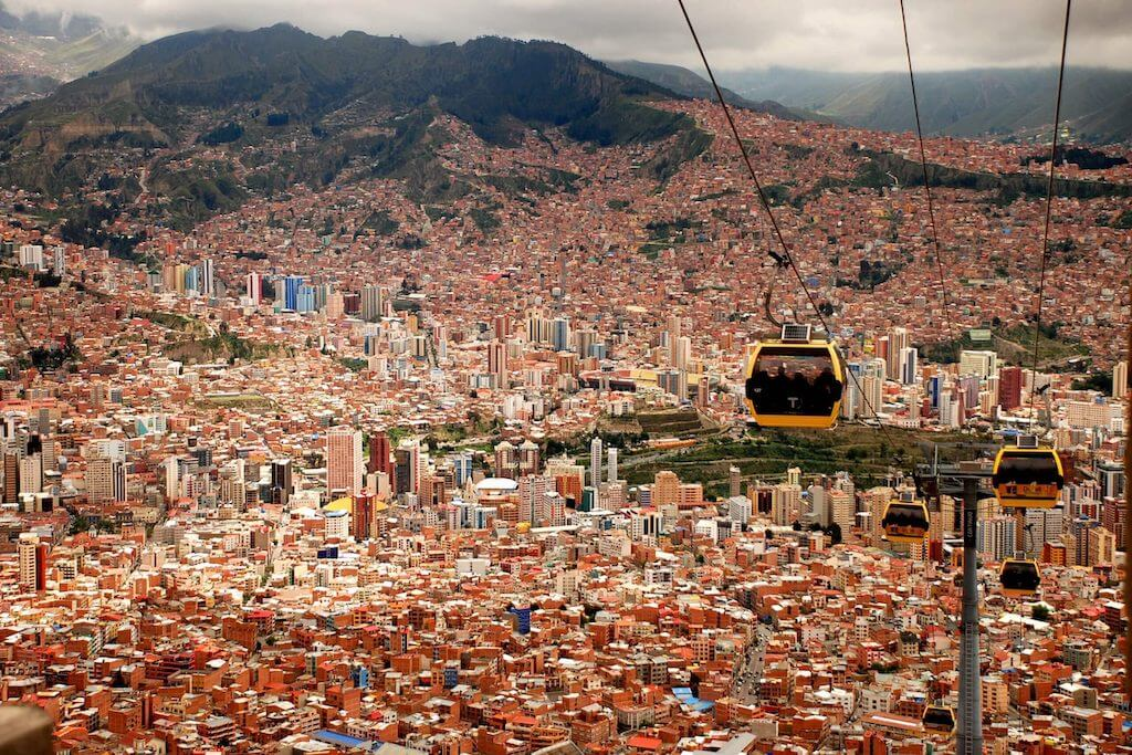 La Paz from the cable car