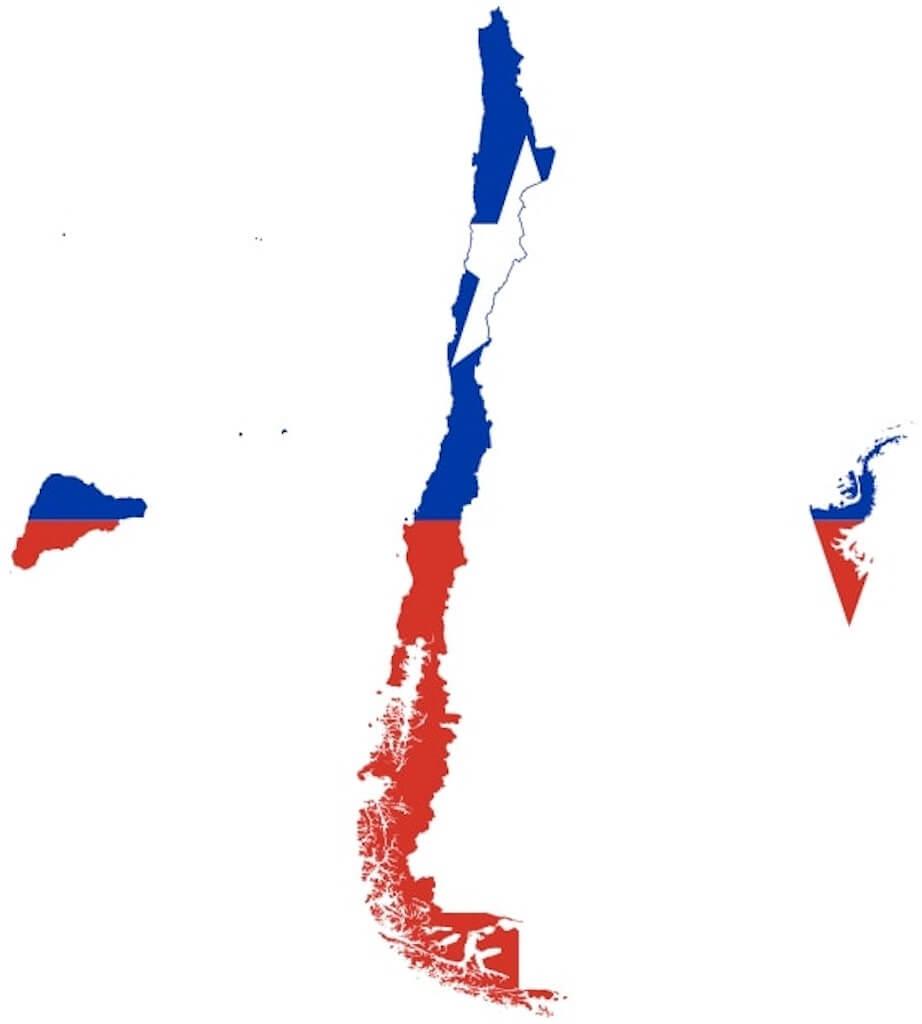 Narrow shape of Chile
