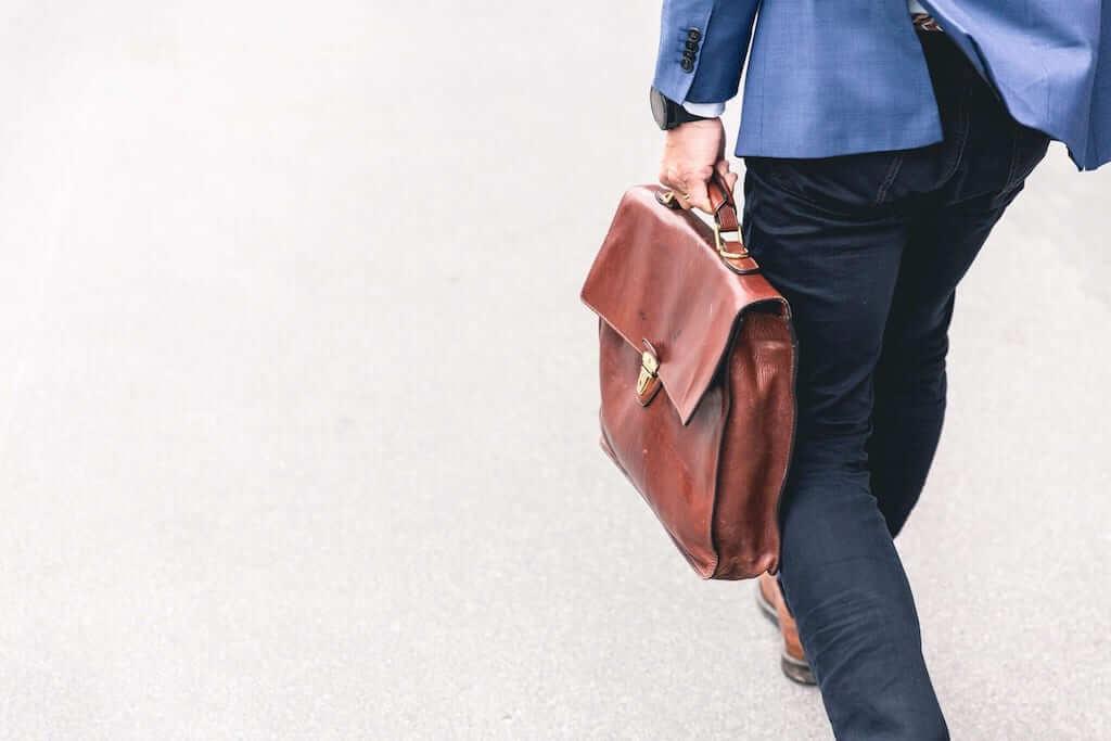 Man in business wear walking