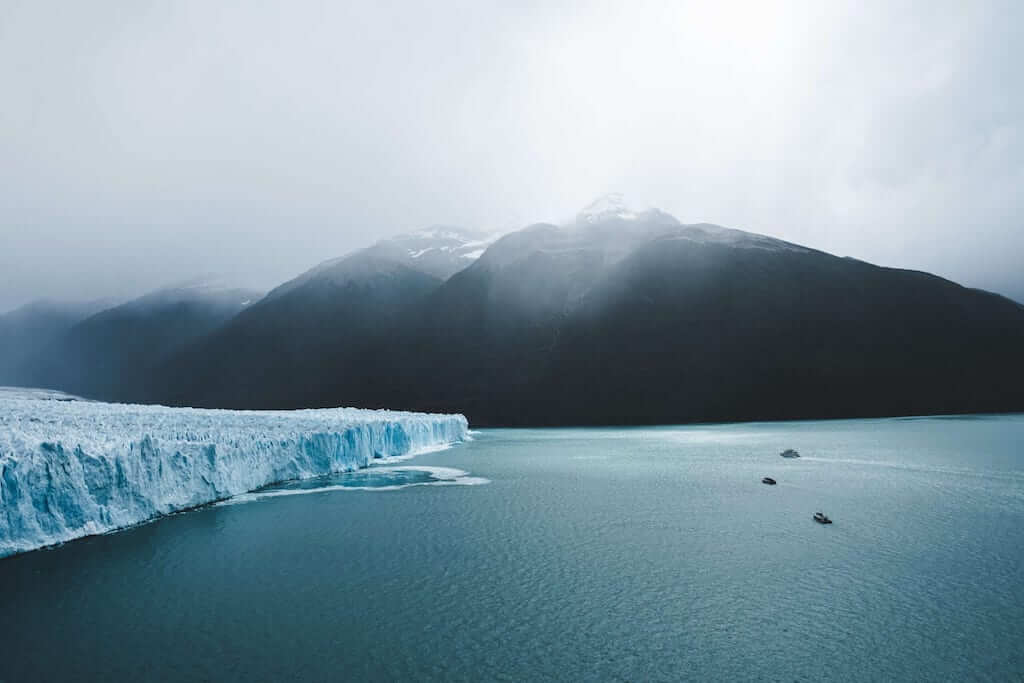 sea and ice in patagonia