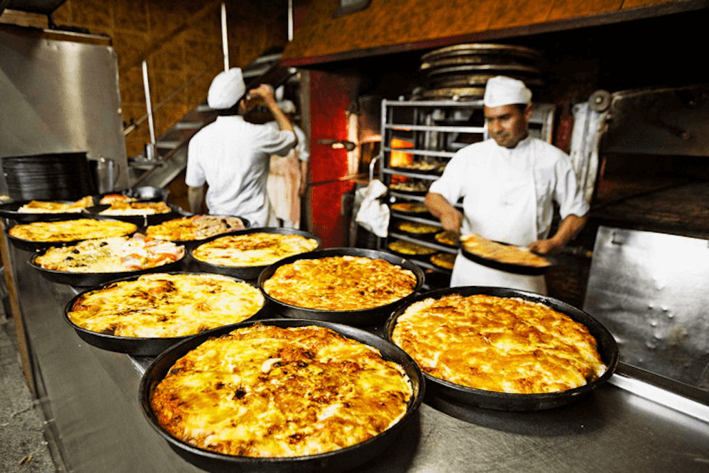 Italian pizza in Argentina