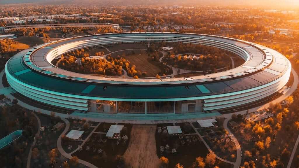 Futuristic building in Silicon Valley