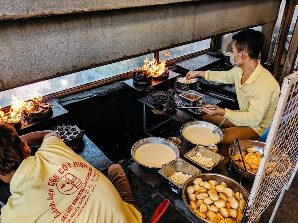 Man selling street food in Vietnam
