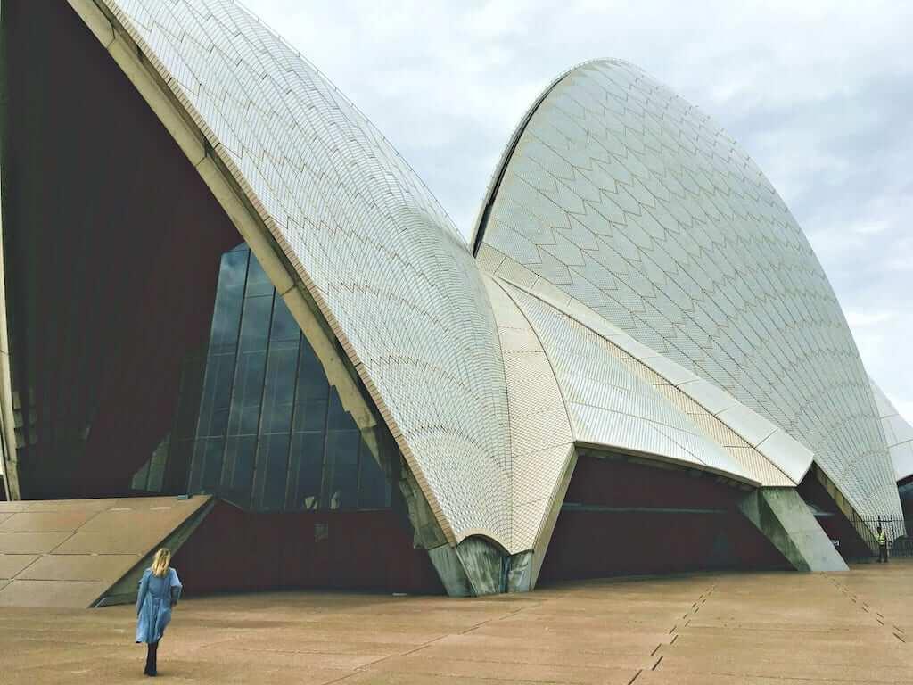 facade of sydney opera house