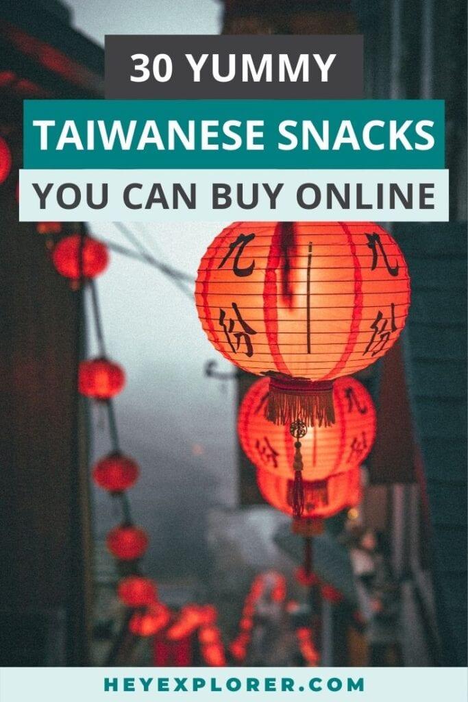 Taiwanese snacks