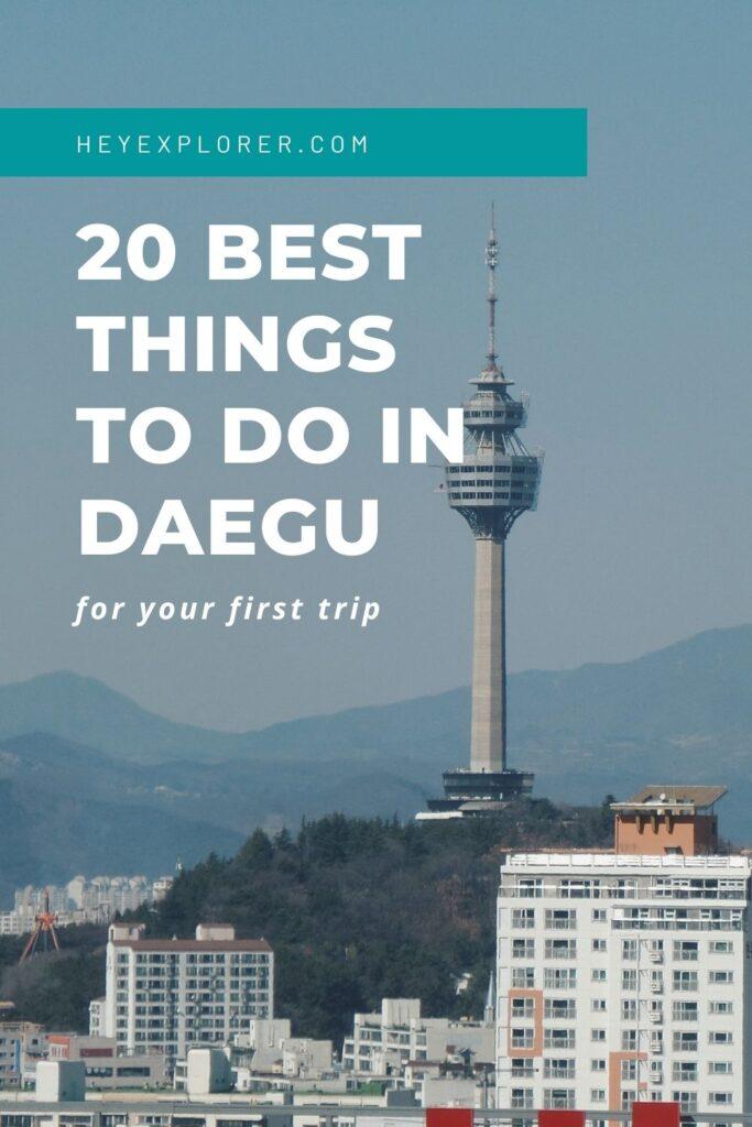 things to do in Daegu