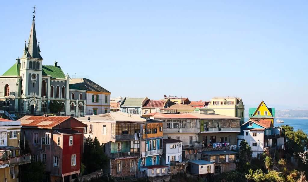 Charming colorful houses in Valparaíso