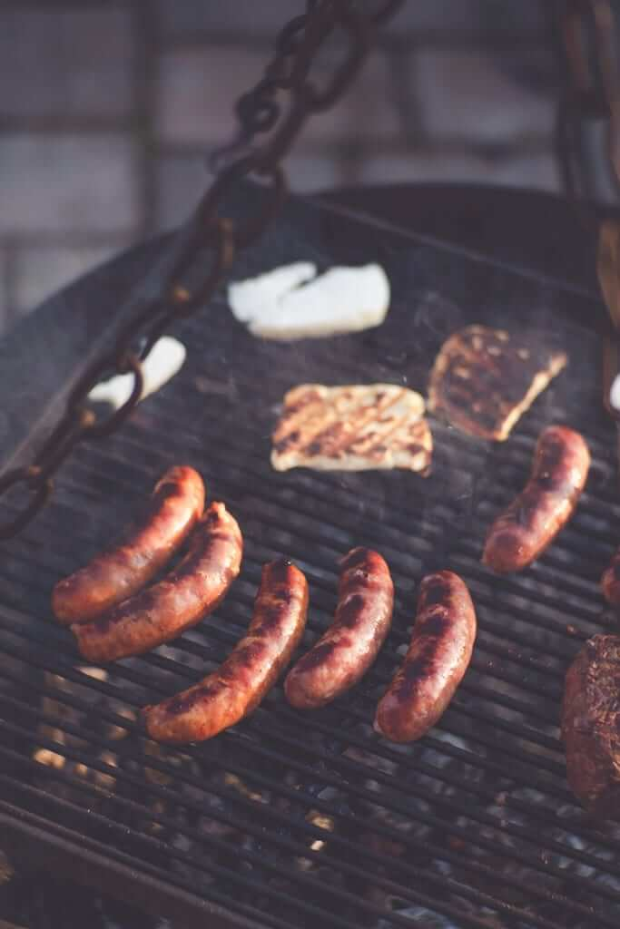 wurst on a barbecue