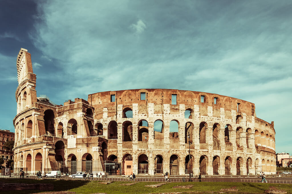 The Colosseum in Rome is a famous Italian landmark