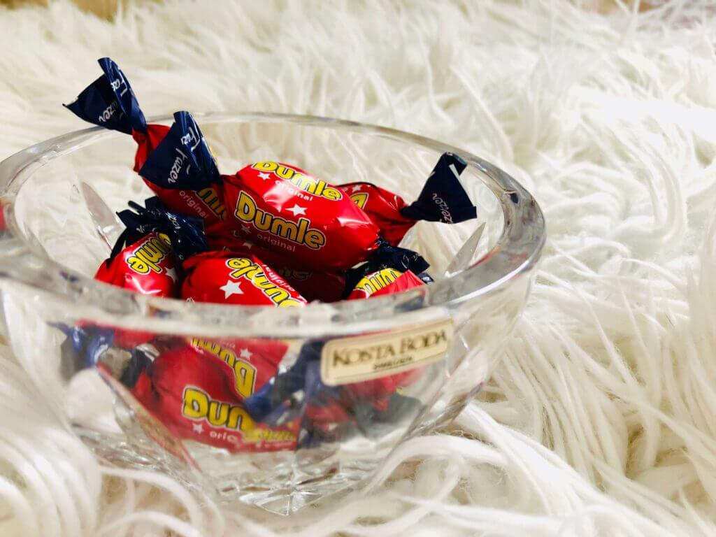 dumle sweets in a bowl