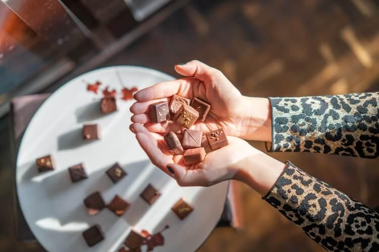 handful of chocolates